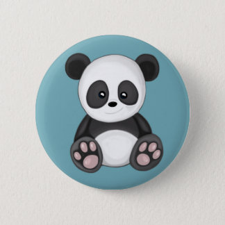 Bóton Redondo 5.08cm Panda bonito
