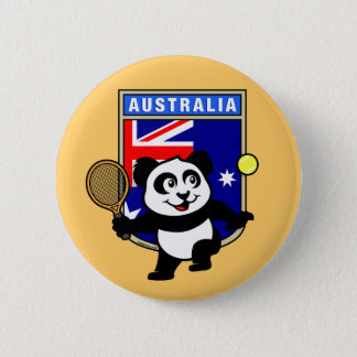 Bóton Redondo 5.08cm Panda do tênis de Austrália