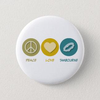 Bóton Redondo 5.08cm Pandeiro do amor da paz