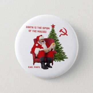 Bóton Redondo 5.08cm Papai noel de Karl Marx