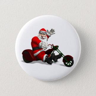 Bóton Redondo 5.08cm Papai Noel em Trike
