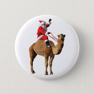 Bóton Redondo 5.08cm Papai noel no Natal do camelo