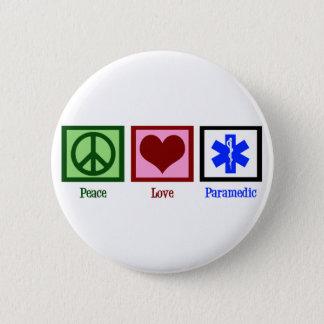 Bóton Redondo 5.08cm Paramédico do amor da paz