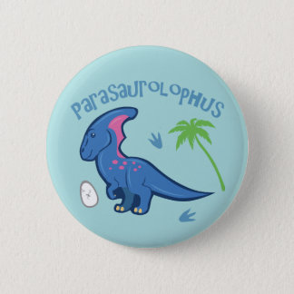 Bóton Redondo 5.08cm Parasaurolophus bonito