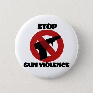 Bóton Redondo 5.08cm Pare a violência armada