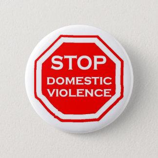 Bóton Redondo 5.08cm Pare a violência doméstica
