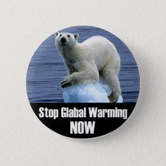 Bóton Redondo 5.08cm Pare o aquecimento global agora