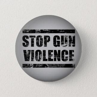 Bóton Redondo 5.08cm Pare o botão da violência armada