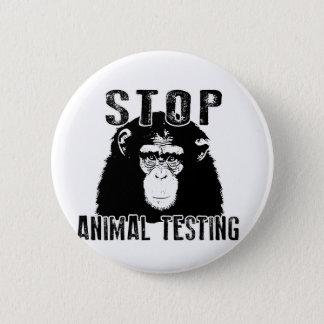 Bóton Redondo 5.08cm Pare o teste animal - chimpanzé