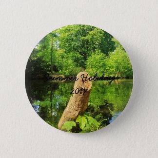 Bóton Redondo 5.08cm Parque do lago photography da natureza do tronco