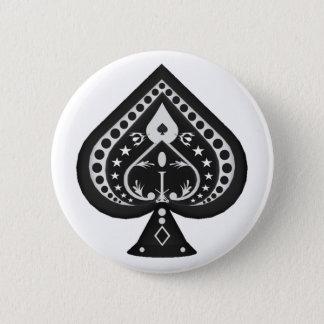 Bóton Redondo 5.08cm Pás pretas: Terno dos cartões de jogo: