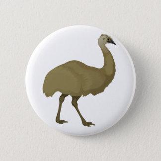 Bóton Redondo 5.08cm Pássaro australiano do Emu