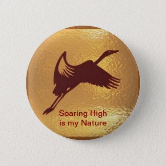 Bóton Redondo 5.08cm Pássaro dourado - a elevação crescente é minha