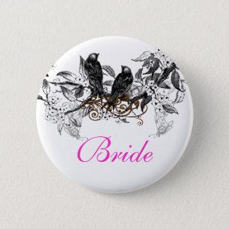 Bóton Redondo 5.08cm Pássaros do amor do vintage que Wedding crachás
