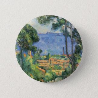 Bóton Redondo 5.08cm Paul Cezanne - ideia do d'If de L'Estaque e de