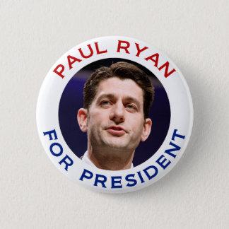 Bóton Redondo 5.08cm Paul Ryan para o presidente