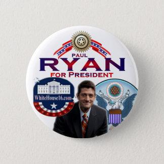 Bóton Redondo 5.08cm Paul Ryan para o presidente Botão
