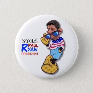 Bóton Redondo 5.08cm Paul Ryan para o presidente em 2016