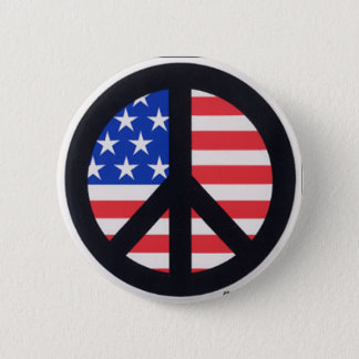 Bóton Redondo 5.08cm Paz americana