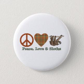 Bóton Redondo 5.08cm Paz, amor & preguiças