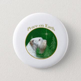 Bóton Redondo 5.08cm Paz de Sealyham Terrier na terra