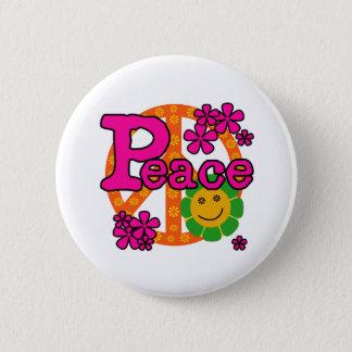 Bóton Redondo 5.08cm paz do estilo 60s