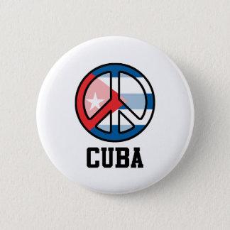 Bóton Redondo 5.08cm Paz em Cuba