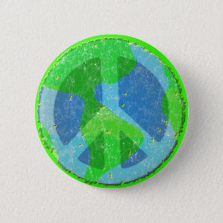 Bóton Redondo 5.08cm Paz no botão da terra