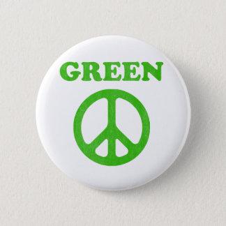 Bóton Redondo 5.08cm Paz verde (Dia da Terra)