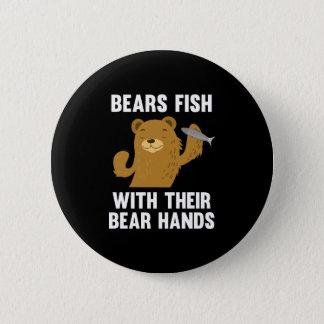 Bóton Redondo 5.08cm Peixes dos ursos com suas mãos do urso