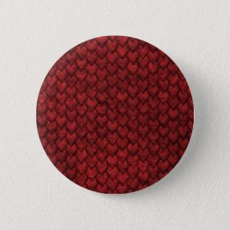 Bóton Redondo 5.08cm Pele vermelha do dragão