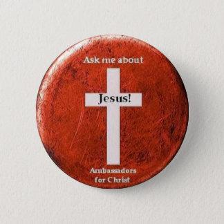 Bóton Redondo 5.08cm Pergunte-me sobre Jesus!