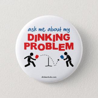 Bóton Redondo 5.08cm Pergunte-me sobre meu botão de Pickleball do
