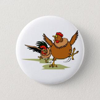Bóton Redondo 5.08cm Perseguindo galinhas