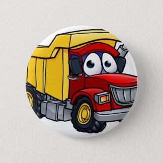 Bóton Redondo 5.08cm Personagem de desenho animado do camião basculante