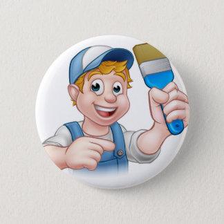 Bóton Redondo 5.08cm Personagem de desenho animado do trabalhador