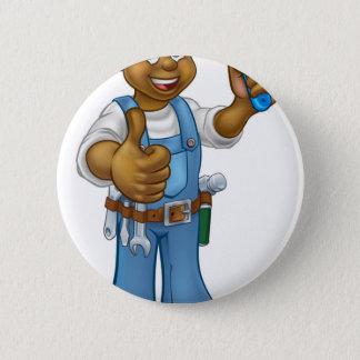 Bóton Redondo 5.08cm Personagem de desenho animado preto do decorador