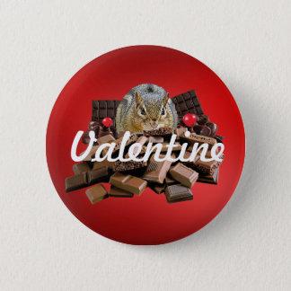 Bóton Redondo 5.08cm Personalize o Chipmunk do chocolate do dia dos