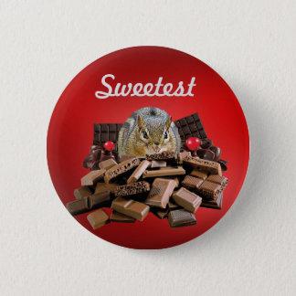 Bóton Redondo 5.08cm Personalize o Chipmunk o mais doce do chocolate do