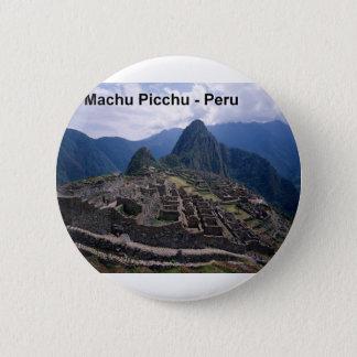 Bóton Redondo 5.08cm Peru as ruínas de Machu Picchu (St.K.)
