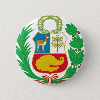 Bóton Redondo 5.08cm Peru - escudo Nacional (emblema nacional)