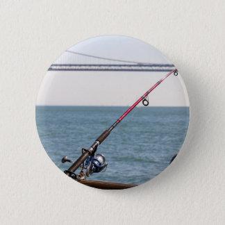 Bóton Redondo 5.08cm Pesca Rod no cais em San Francisco Bay