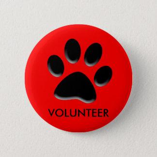 Bóton Redondo 5.08cm pet o abrigo, salvamento animal, crachá voluntário