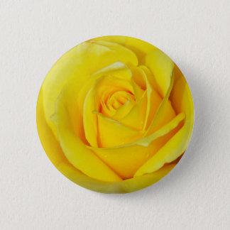 Bóton Redondo 5.08cm Pétalas cor-de-rosa amarelas bonitas