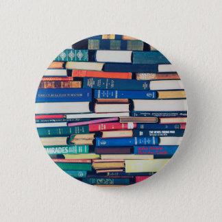 Bóton Redondo 5.08cm Pilha de livros