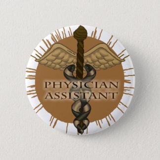 Bóton Redondo 5.08cm Pin assistente do Caduceus do médico