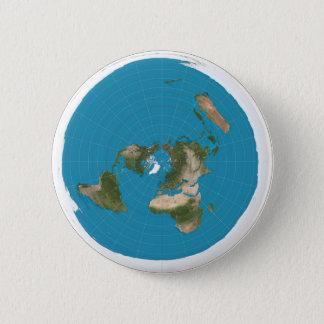 Bóton Redondo 5.08cm Pin Azimuthal do botão do mapa da projeção da AE