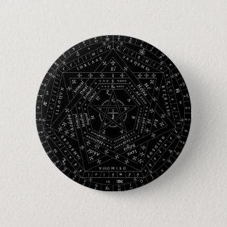 Bóton Redondo 5.08cm Pin completo preto de Sigillum Dei Aemeth