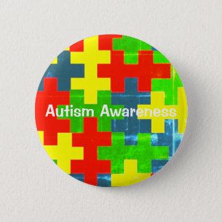 Bóton Redondo 5.08cm Pin da consciência do autismo
