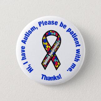 Bóton Redondo 5.08cm Pin da consciência do autismo/crachá do botão